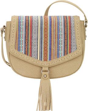 Bandana by American West Boho Rainbow Flap Crossbody Bag, Sand, hi-res