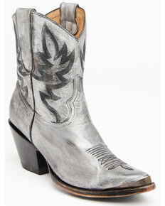 Idyllwind Women's Wheels Metallic Silver Western Booties - Pointed Toe, Silver, hi-res