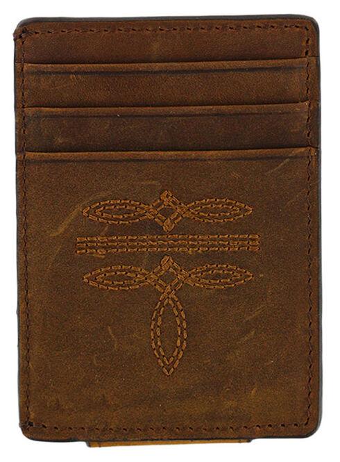 Cody James Men's Boot Stitch Money Clip Wallet, Brown, hi-res