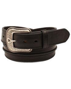 Ariat Men's Bump Leather Western Belt, Black, hi-res