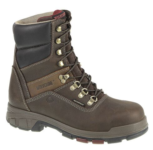 "Wolverine Men's Cabor 8"" Waterproof Work Boots - Composition Toe, Coffee, hi-res"