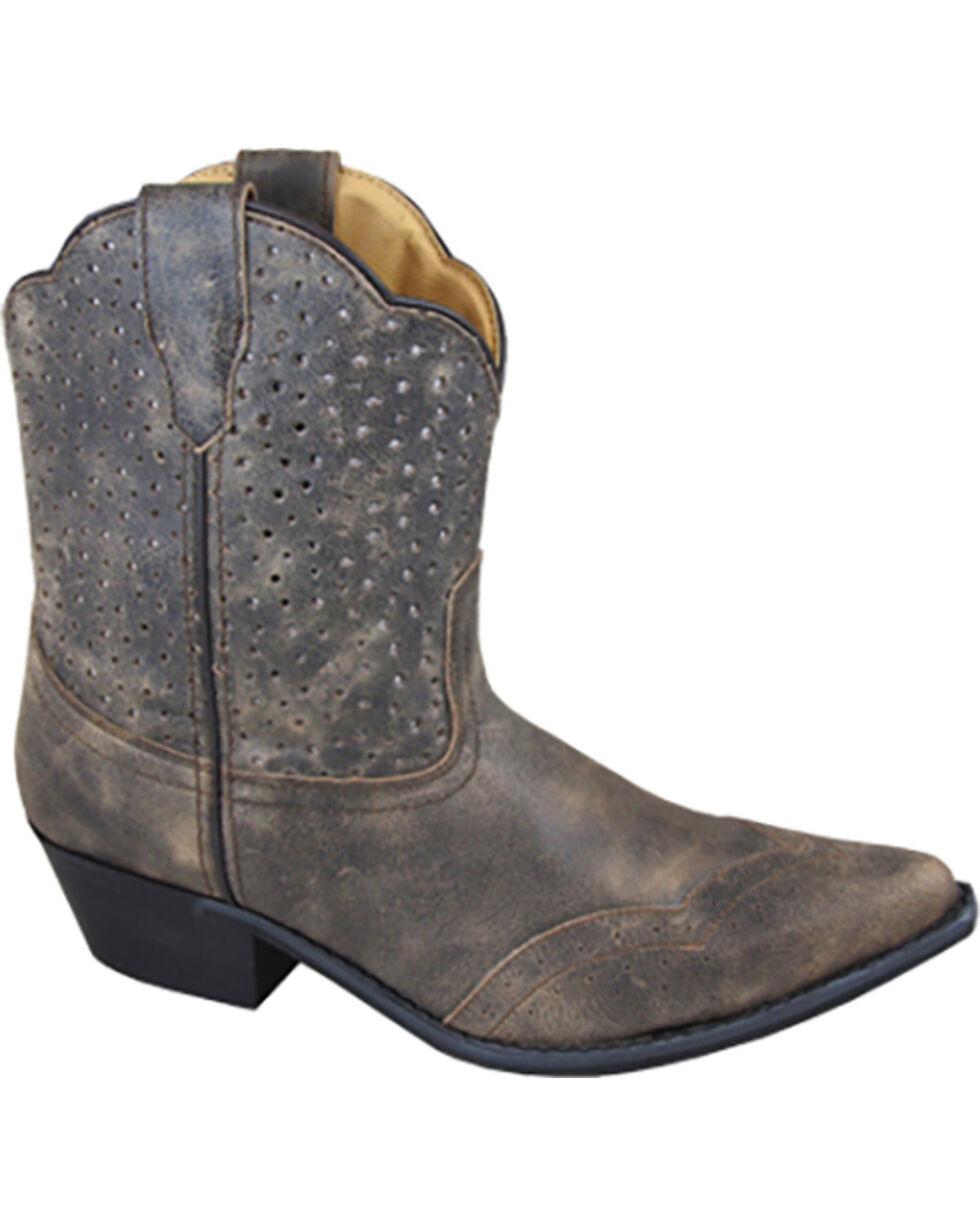 Smoky Mountain Women's Fern Western Boots - Snip Toe , Grey, hi-res