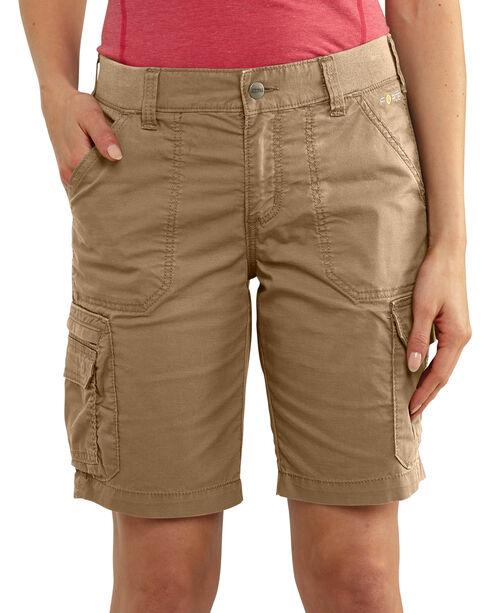 Carhartt Women's Force RuggedFlex Lakota Shorts, Beige, hi-res