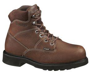 "Wolverine Tremor 6"" Slip-Resistant Work Boots, Brown, hi-res"