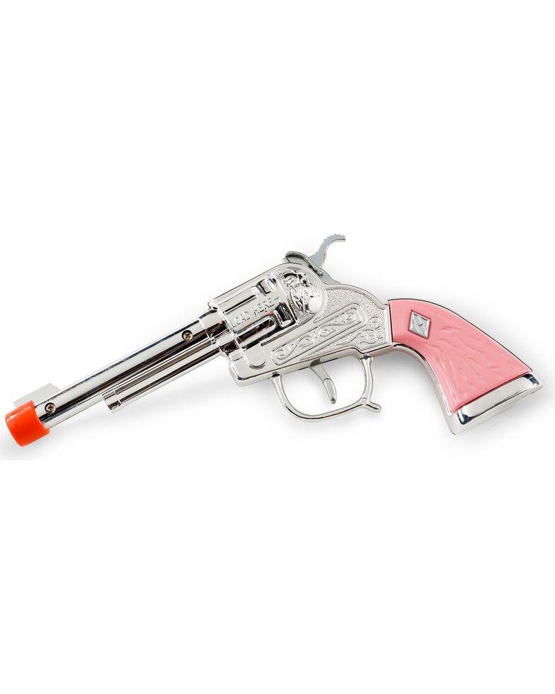Parris Girls' Western Cowgirl Toy Cap Gun Set, Pink, hi-res