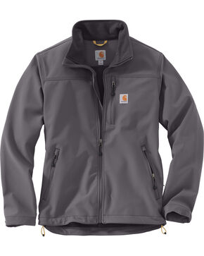Carhartt Men's Charcoal Denwood Jacket - Tall , Charcoal, hi-res