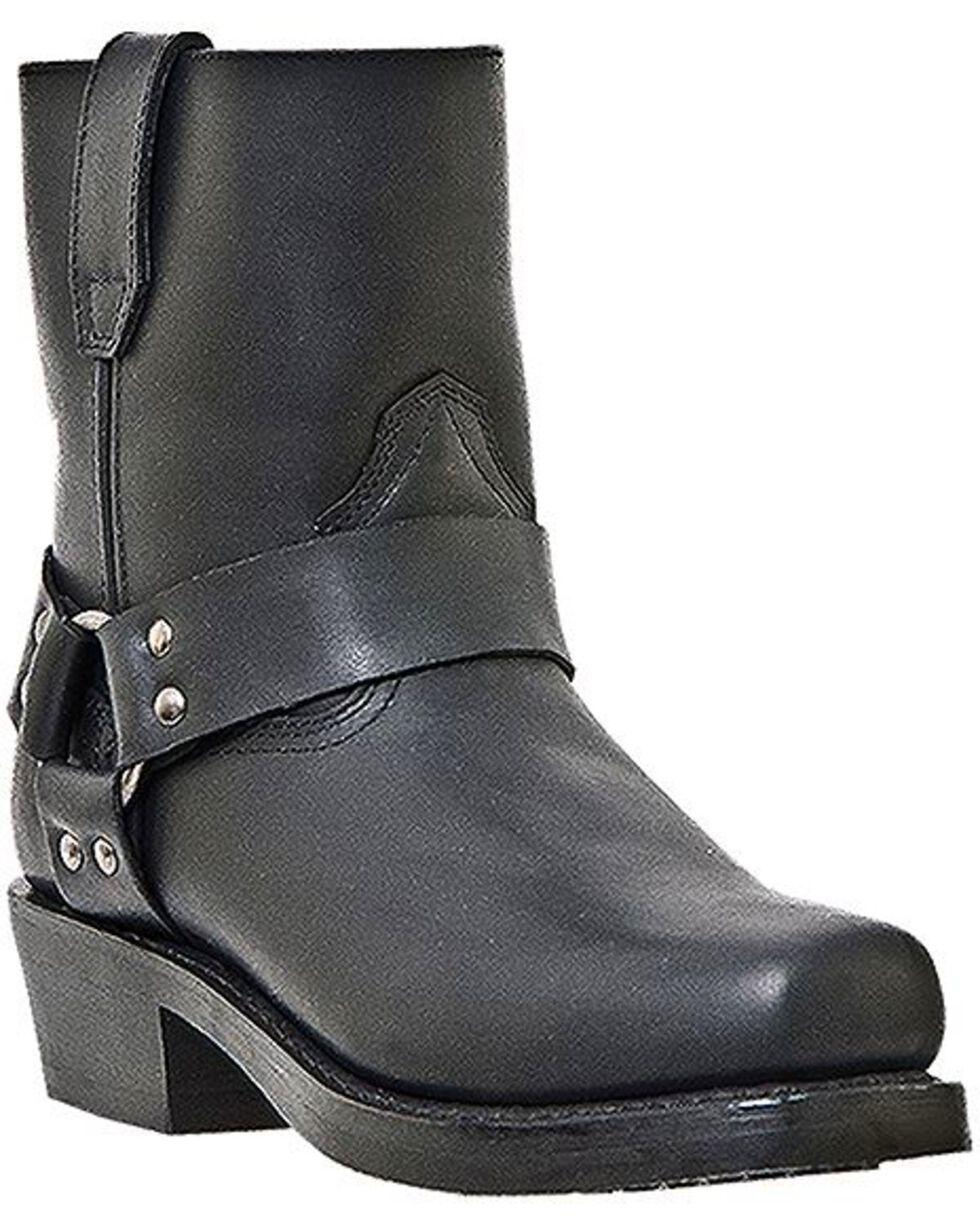 Dingo Rev Up Zipper Motorcycle Boots - Snip Toe, Black, hi-res