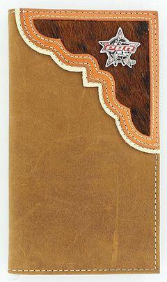 PBR Hair-On-Hide Rodeo Wallet, Aged Bark, hi-res