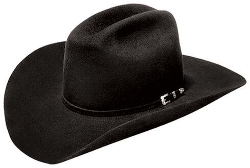 Master Hatters Men's Denton 3X Wool Felt Cowboy Hat, Black, hi-res