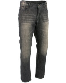 "Milwaukee Leather Men's Black 32"" Denim Jeans Reinforced With Aramid - XBig, Black, hi-res"