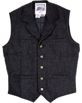 Schaefer Outfitter Men's Charcoal McClure Wool Vest , Charcoal, hi-res