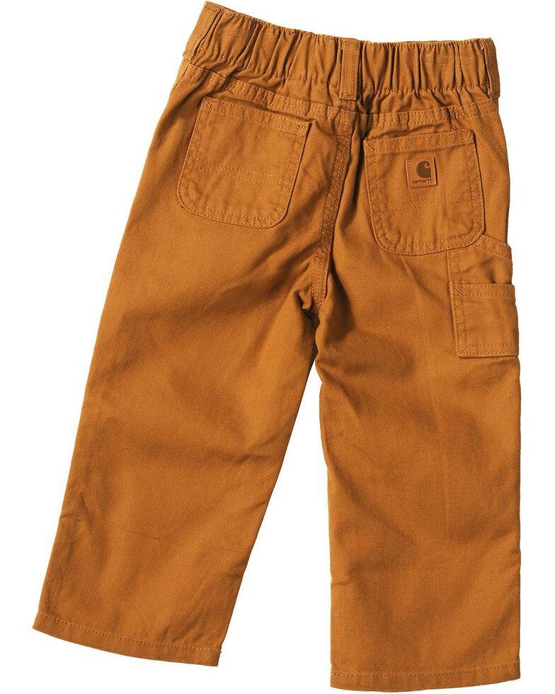 Carhartt Toddlers' Duck Dungaree Pants - 2T-4T, Brown, hi-res