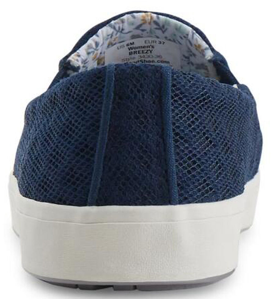 Eastland Women's Navy Breezy Slip-On Sneakers , , hi-res