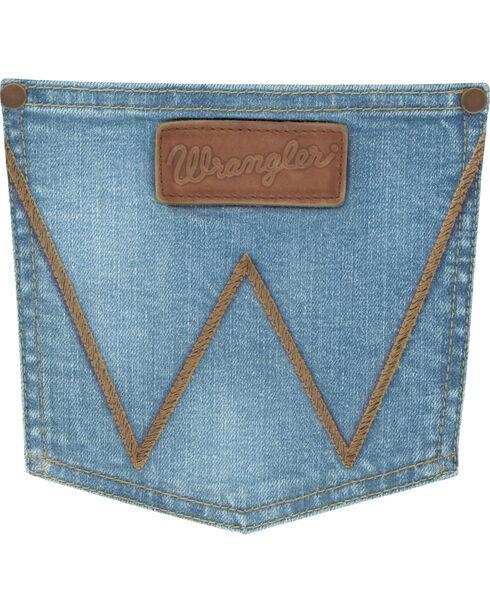 Wrangler Men's Blue Retro Wellington Slim Fit Jeans - Boot Cut , Medium Blue, hi-res