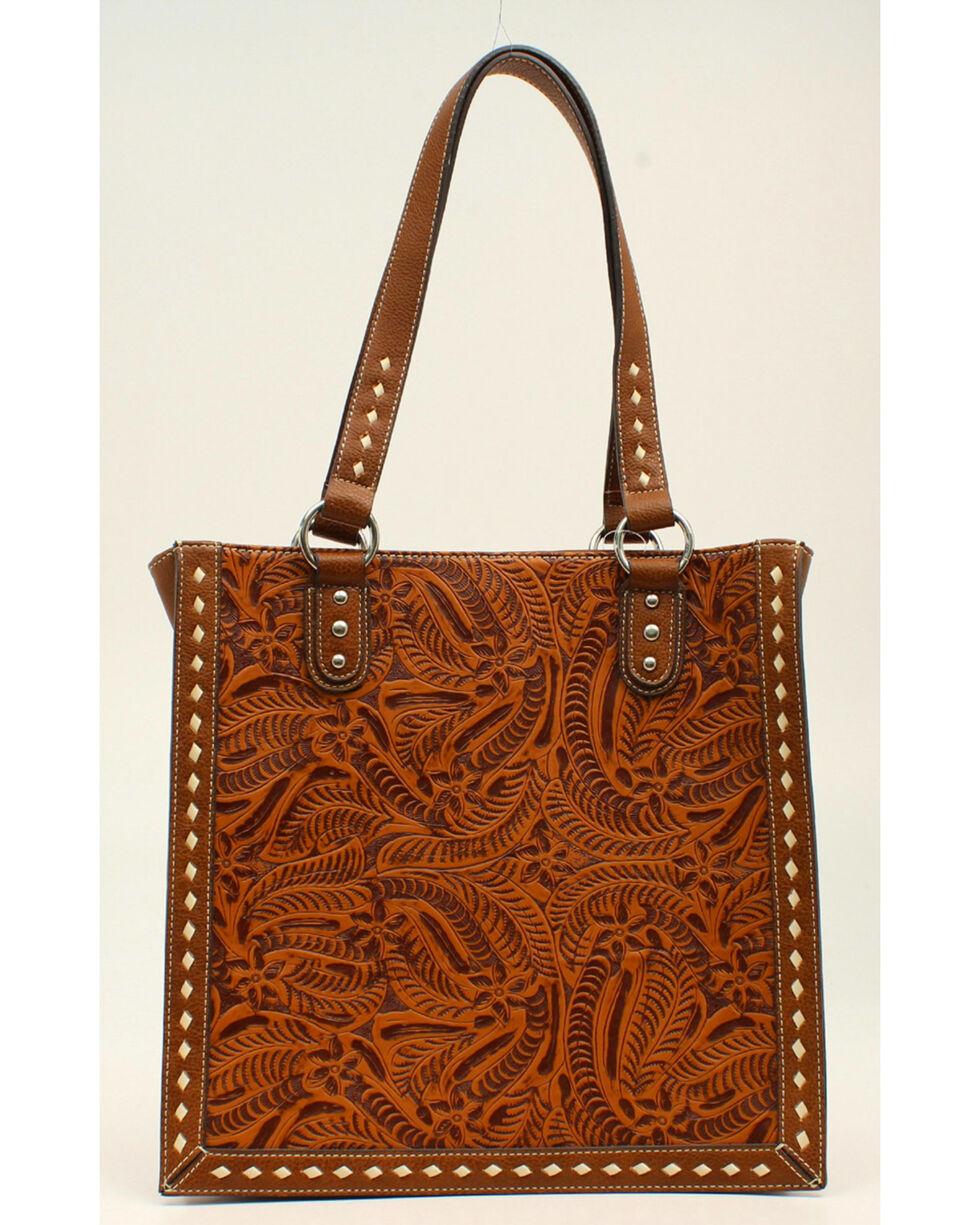 Blazin Roxx Floral Tooled Tote Bag, , hi-res