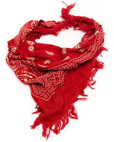 Idyllwind Women's Fiesty And Frayed Haute Red Bandana, Red, hi-res