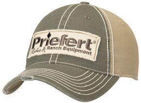Priefert Logo Patch Casual Cap, Grey, hi-res