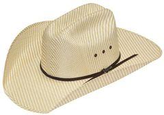 Twister Wild One Straw Cowboy Hat, Tan, hi-res