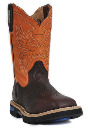 """Cinch 11"""" Pull-On Work Boots, Brown, hi-res"""