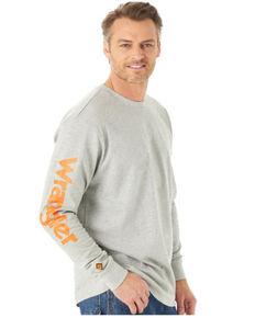 Wrangler FR Men's Wrench Skull Graphic Long Sleeve Work T-Shirt - Big , Heather Grey, hi-res