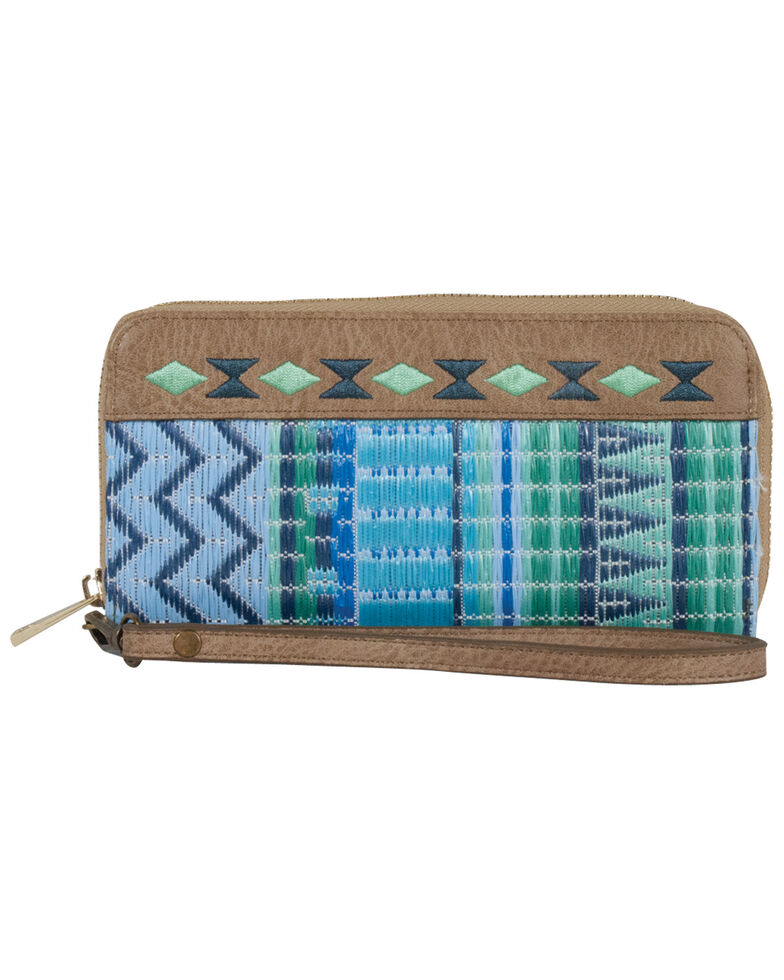 Catchfly Women's Kendall Wristlet Wallet *DISCONTINUED*, Blue, hi-res
