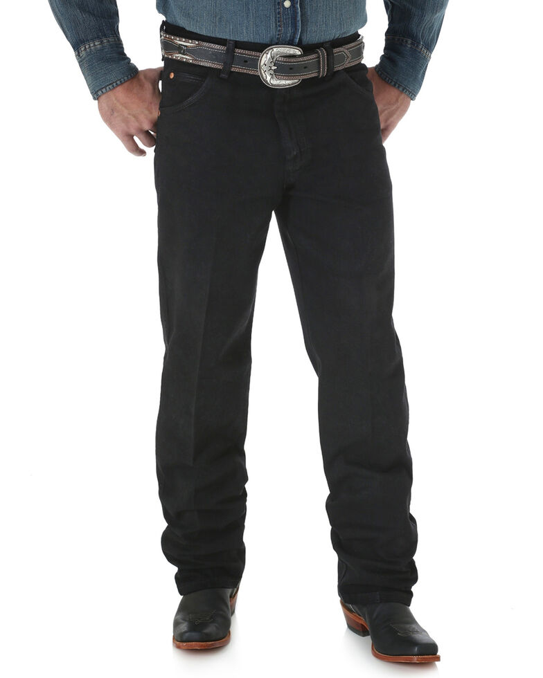 Wrangler Men's Black Cowboy Cut Relaxed Fit Jeans - Big, Black, hi-res