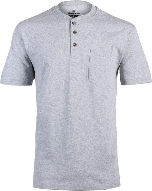 American Worker Men's Solid Short Sleeve T-Shirt, Heather Grey, hi-res