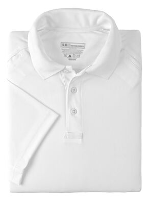 5.11 Tactical Performance Short Sleeve Polo Shirt, White, hi-res