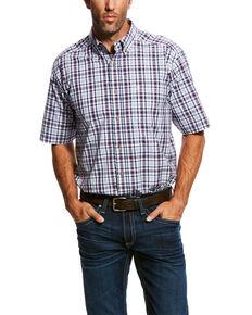 b346aafc Ariat Men's Obispo Med Plaid Short Sleeve Western Shirt - Big & Tall