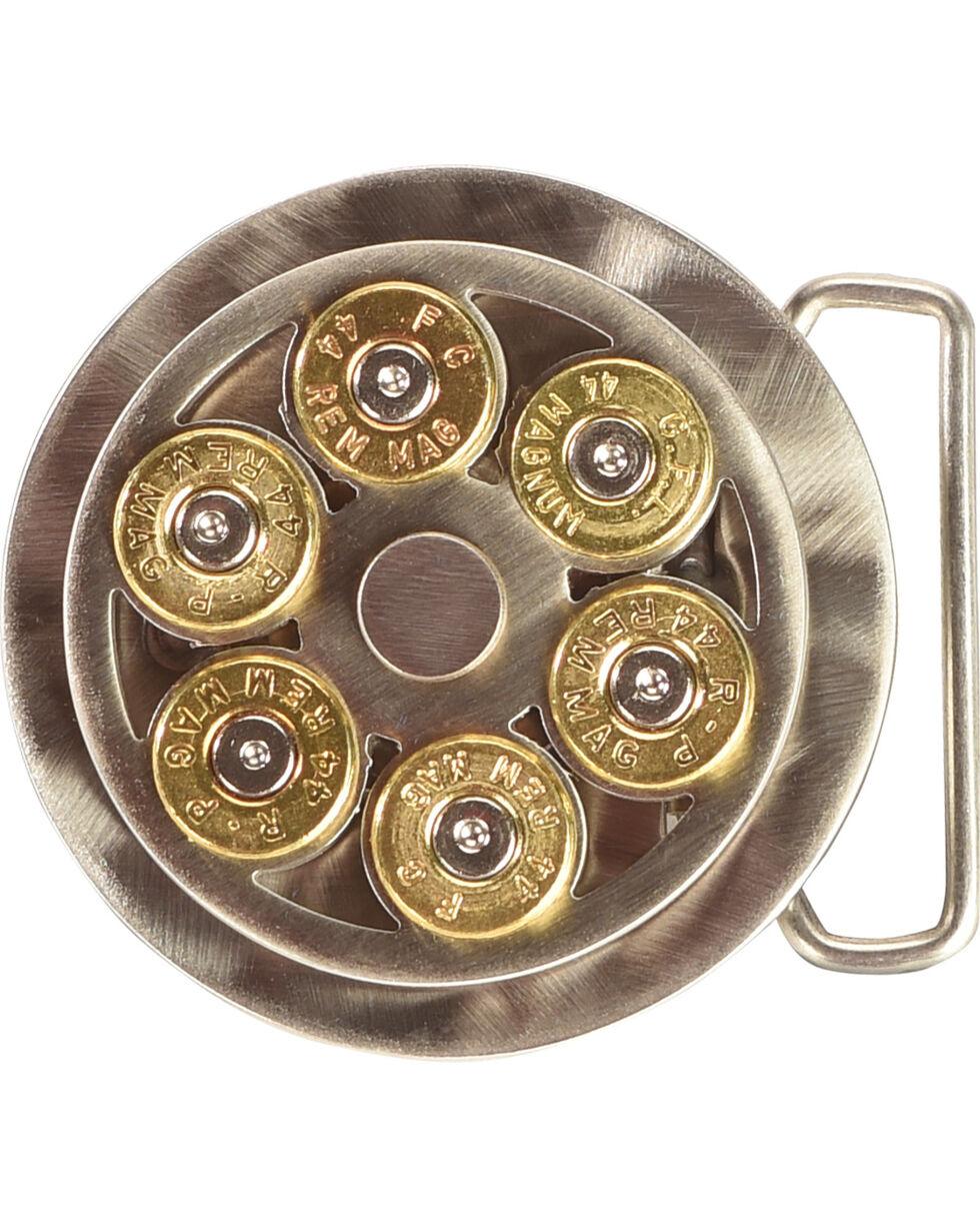 American Heritage .44 Mag Cylinder Belt Buckle, Silver, hi-res