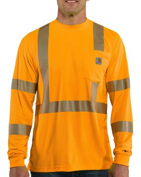Carhartt Force High-Visibilty Class 3 Long Sleeve T-Shirt, Orange, hi-res