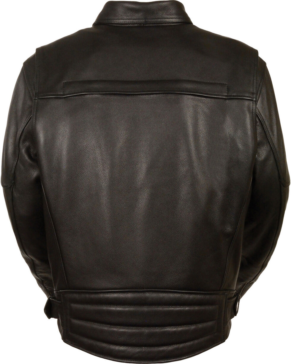 Milwaukee Leather Men's Side Set Belt Utility Pocket Motorcycle Jacket - 3X, Black, hi-res