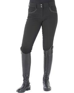 Ovation Women's Sorrento Full Seat Breeches, Black, hi-res