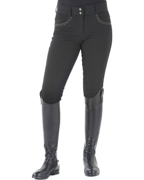 Ovation Women's Sorrento Full Seat Breeches, Black, hi-res