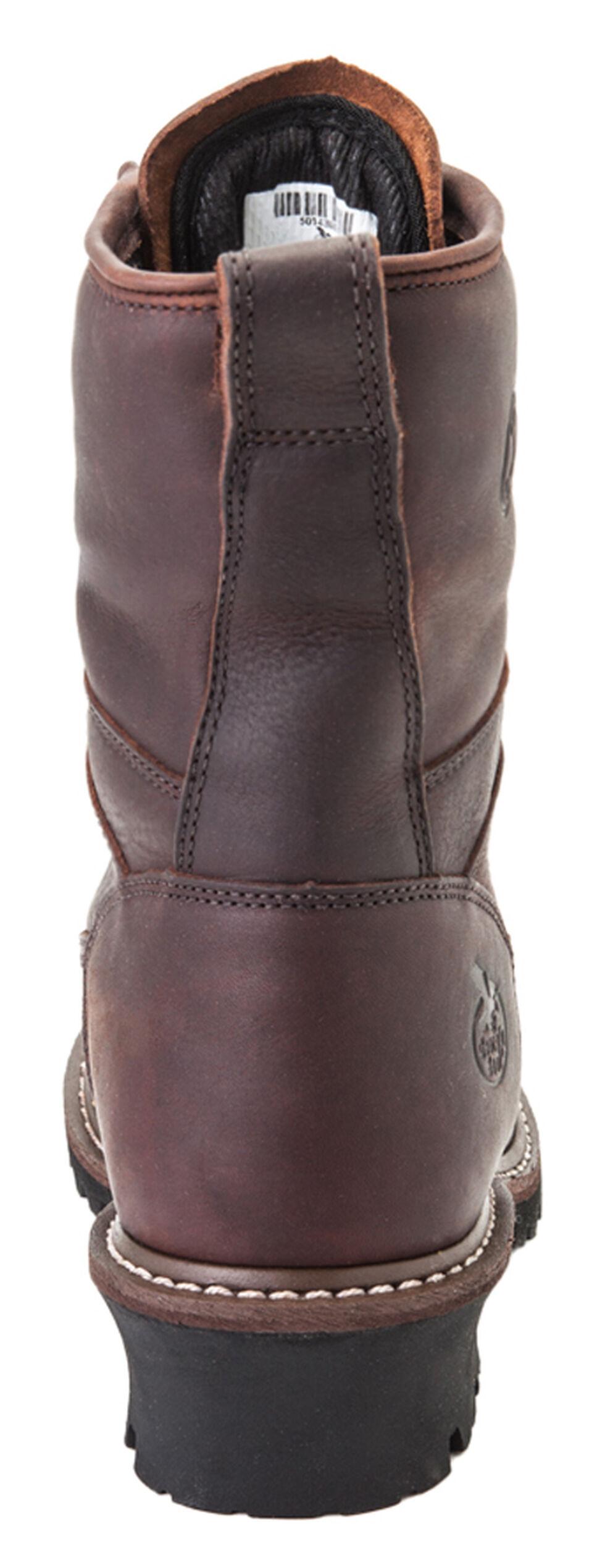 Georgia Waterproof Logger Boots - Steel Toe, Chocolate, hi-res