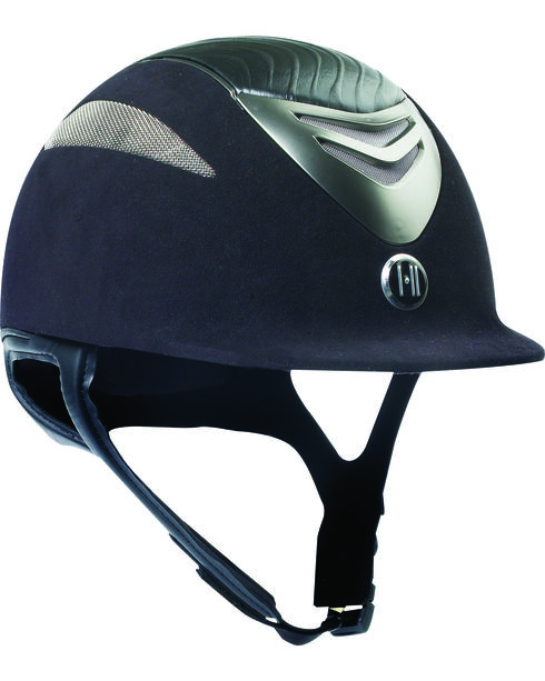 One K Defender Suede & Leather Helmet, Black, hi-res