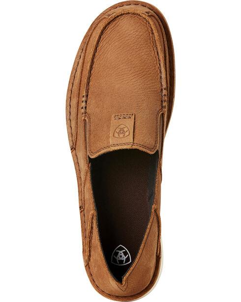 Ariat Men's Cruiser Leather Slip On Shoes - Moc Toe, Lt Brown, hi-res