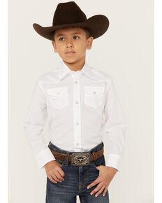 Wrangler Boys' Western Dress Shirt - 2-20, White, hi-res