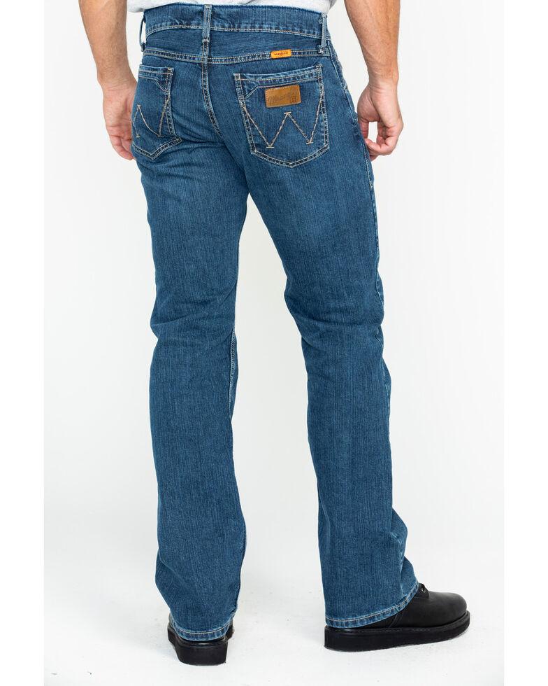 aea1e8bf Zoomed Image Wrangler Retro Men's FR Advanced Comfort Slim Boot Work Jeans  , Blue, hi-res