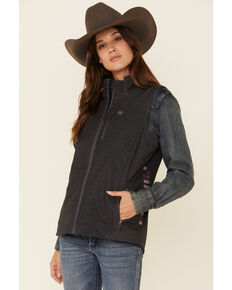 Cinch Women's Grey Concealed Carry Print Bond Vest, Grey, hi-res