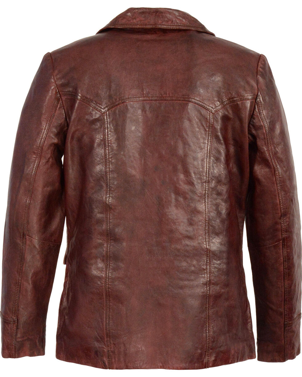 Milwaukee Leather Men's Leather Car Coat Jacket - Big 5X , , hi-res