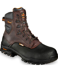 """Thorogood Men's Crossover 7"""" Waterproof Z-Trac Boots - Composite Toe, Brown, hi-res"""
