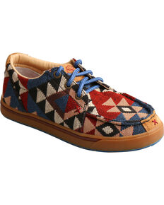 Twisted X Youth Boys' HOOey Loper Shoes - Moc Toe, Multi, hi-res