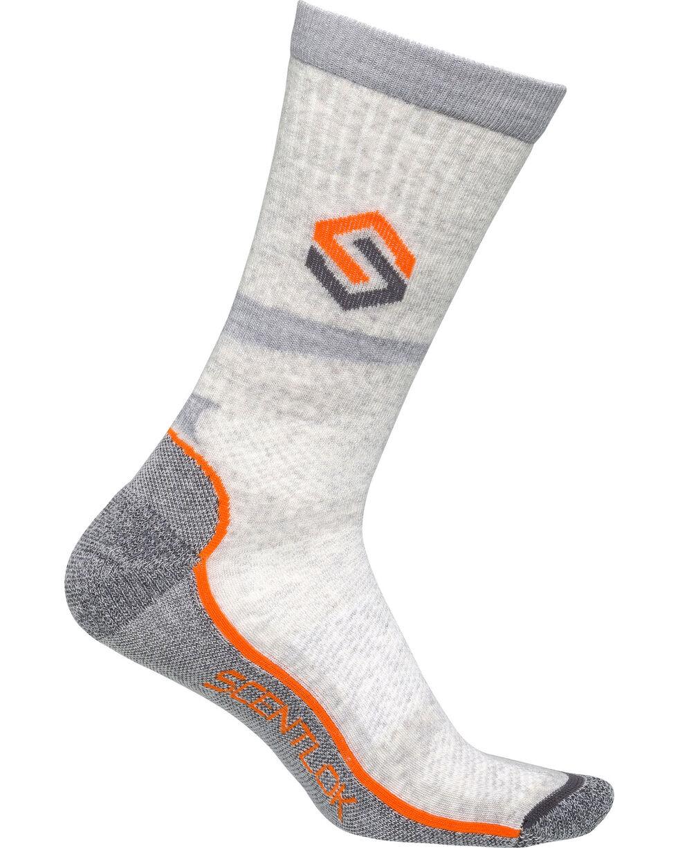 Scentlok Technologies Men's Ultralight Merino Sub-Crew Socks, Grey, hi-res