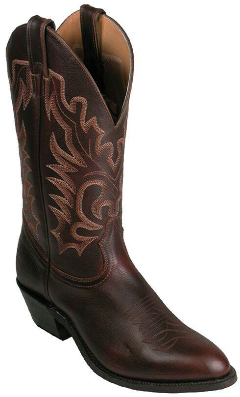 Boulet Fancy Stitched Cowboy Boots - Medium Toe, Honey, hi-res