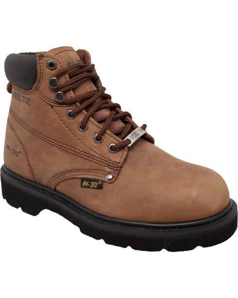"Ad Tec Men's Nubuck Leather 6"" Work Boots, Brown, hi-res"