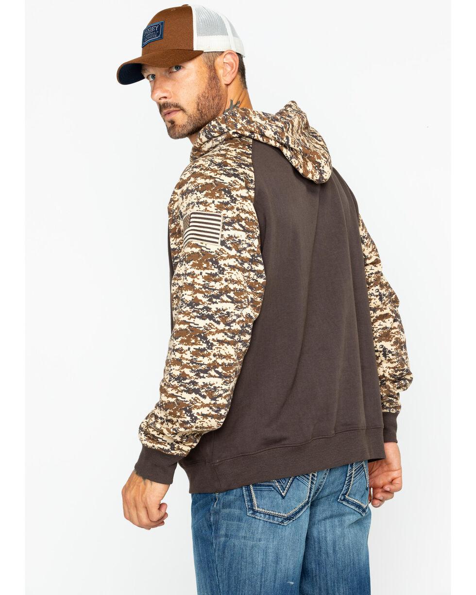 Ariat Men's Brown Patriot Desert Camo Hoodie , Brown, hi-res