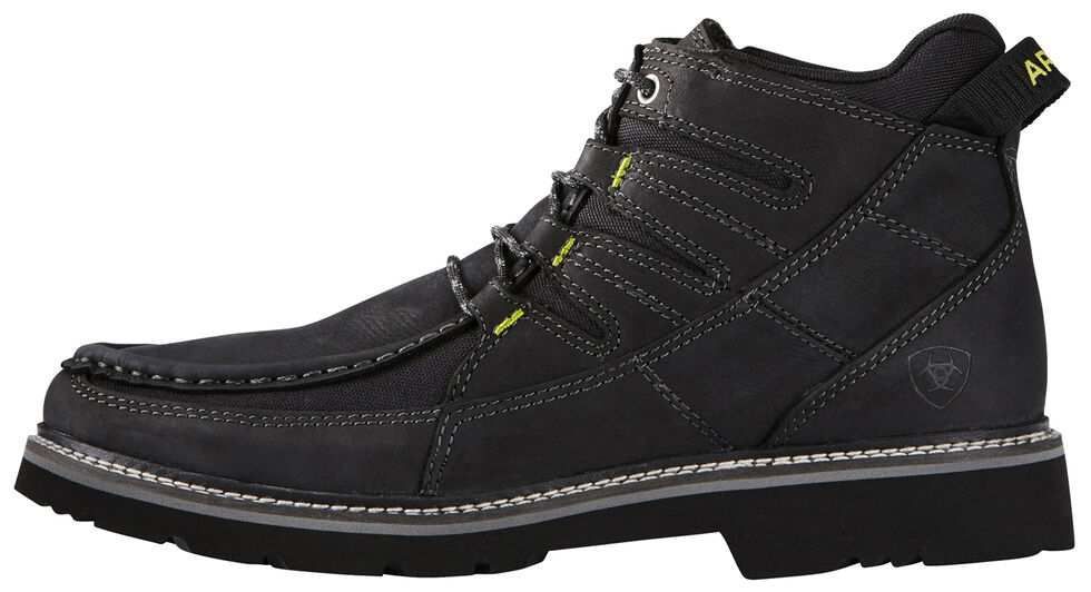 Ariat Men's Exhibitor Casual Boots - Moc Toe, Black, hi-res