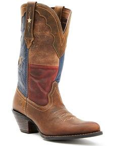 Durango Women's Crush Texas Flag Western Boots - Round Toe, Brown, hi-res