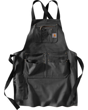 Carhartt Criss Cross Work Apron , Black, hi-res